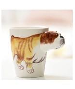 Cute Dog Mug 3D Animal Shape Hand Painted Gift Ceramic Coffee Milk Tea Mug - $27.75