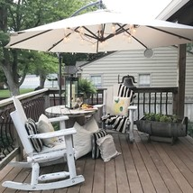 Outdoor Cantilever Umbrella Parasol Offset Garden Patio Backyard 10 ft. ... - $152.81 CAD