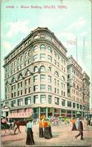 Vtg Postcard 1909 Dallas Texas TX Wilson Building - Souvenir Post Card Co - $8.91