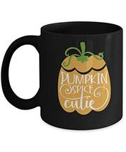 An item in the Pottery & Glass category: Halloween Mug Give Pumpkin Spice Cutie Autumn Fall Coffee Cup Party Gift for Gir