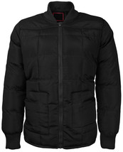 vkwear Men's Quilted Padded Insulated Heavyweight Puffer Bomber Jacket VAQ image 2