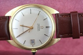 Omega Vintage Geneve 18k Solid Yellow Gold Automatic Mens Watch wristwatch - $1,611.25