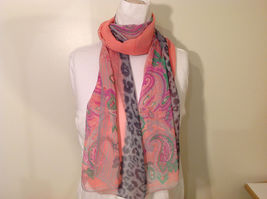 Paisley, Lines, Leopard Print Summer Sheer Fabric Multicolor Scarf, 6 colors image 4