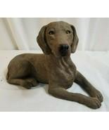 "1999 SANDICAST Weimaraner Dog 7"" x 10"" Figurine Hand Cast & Painted OS368 - $33.55"