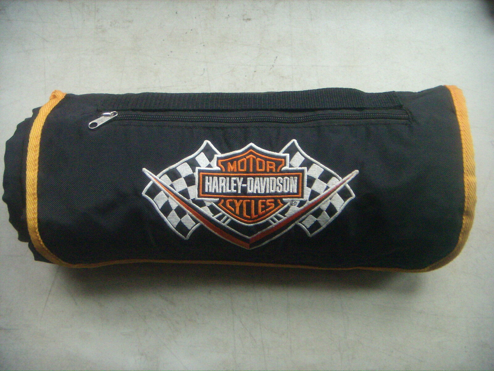 Primary image for Harley Davidson Picnic/Stadium/Beach Travel Blanket Fleece & Nylon. W/Eyelets