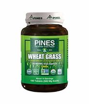 Pines Organic Wheat Grass 500 Mg Tablets, 100 Count - $14.11