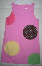 Girls Gymboree Pink Circle Patch Girls Dress Age 3 SZ 3 - $20.00