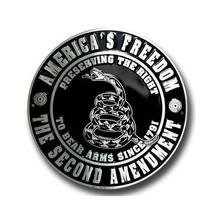 "America's Freedom the Second Amendment 12"" Metal Circle Sign - $15.54"