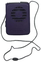 1 X Necklace Fan, Vertical Air Flow with Lanyard (Purple) by O2-Cool