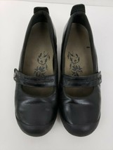 Merrell Plaza Bandeua Black Leather Mary Jane Shoes Flats Women's Size 7.5 - $23.75