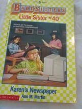 Scholastic Little Apple Babysitters Little Sister #40 Karen's Newspaper ... - $4.99