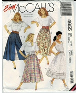 McCalls Pattern #4655 Misses Skirts & Petticoats Sizes XS to Small 6-8 U... - $9.90