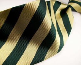 MARK PENNELTON  Yellow Green STRIPES     Mens 100 SILK Necktie  8-1219A - $15.99