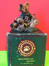 Boyds Bears And Friends Bailey The Cheerleader 1995 Vintage Figurine Collectible - $14.00