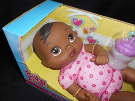 BABY ALIVE LUV N SNUGGLE HASBRO 2015 AFRICAN AMERICAN DOLL W/ BOTTLE IN BOX image 2