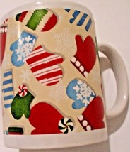 "Hallmark North Pole ""Christmas Mittens"" Ceramic Coffee Mug/Cup  - $9.89"