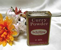 3797 Old Fashion Antique Curry Schilling Spice Tin - $5.00