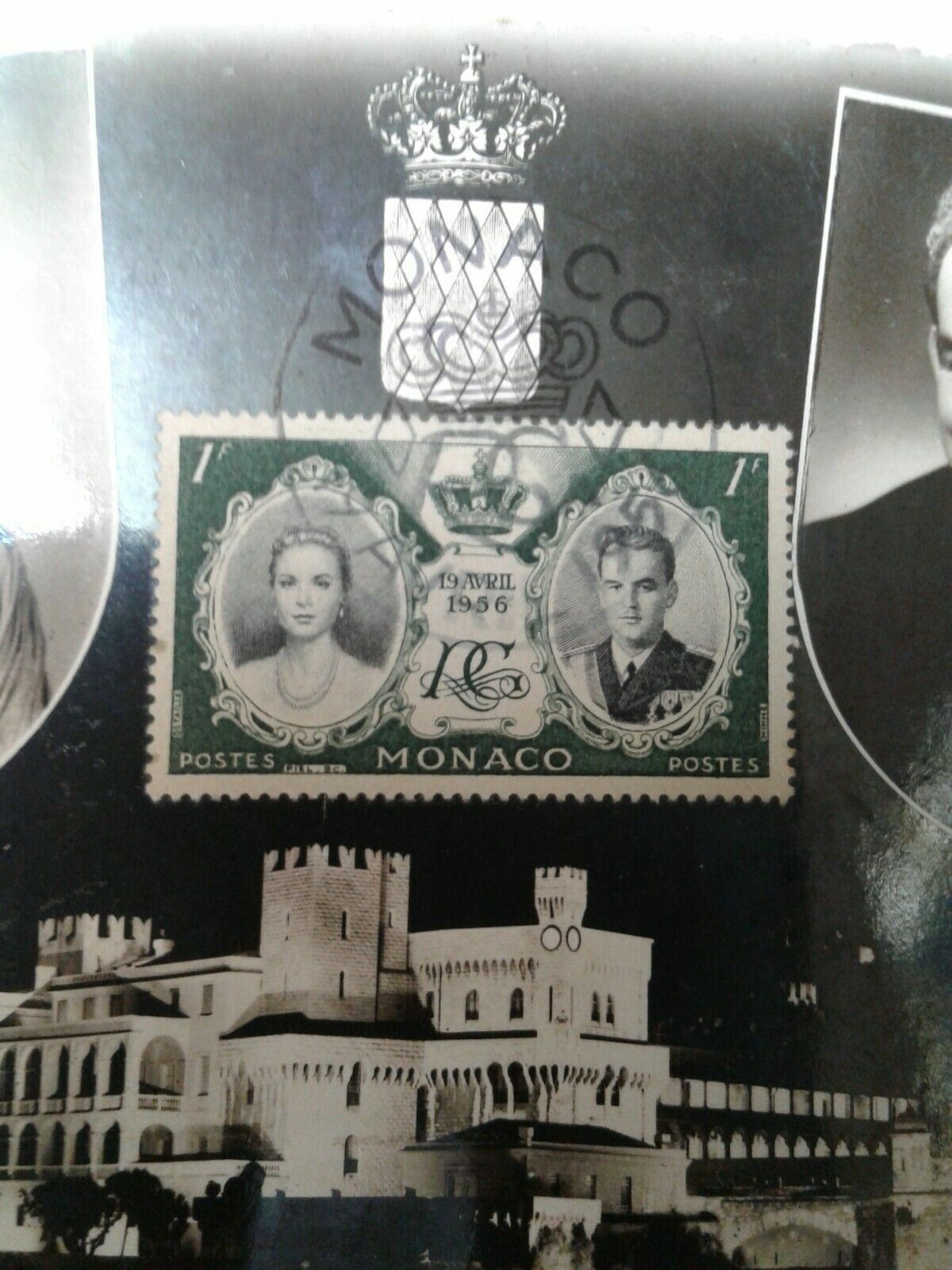 Monaco VF MINT - 1956 Princess Grace & Prince Rainier