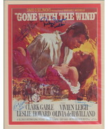 Gone With The Wind double matted, signed by 5 lobby card image. Nicely m... - $99.95