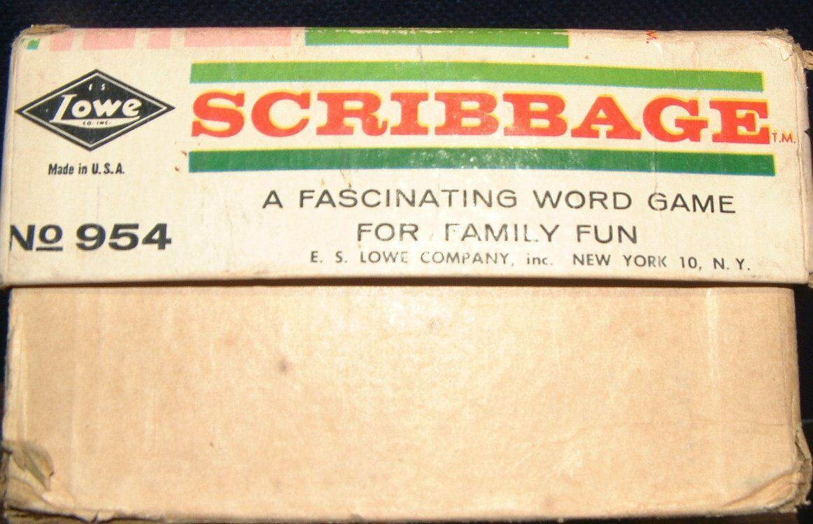 Vintage 1963 Scribbage Family Word / Dice Game by E.S Lowe ~ Made in the U.S.A.