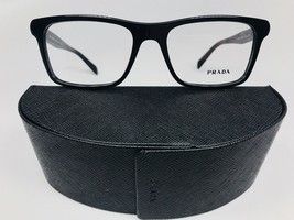 New Authentic PRADA VPR 06R 1AB-1O1 Shiny Black Eyeglasses 55/18/145 with Case - $98.75