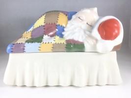 "Vintage 1977 Christmas Sleepy Santa Cookie Jar 8x6"" Squared - $17.41"