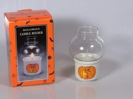 Halloween Pumpkin Jack-o-lantern Votive Candle Holder Vintage Kmart - $12.59
