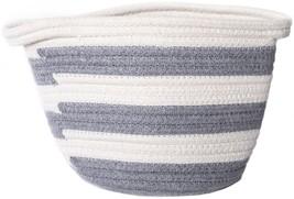 "Lion Brand Cotton Rope Basket 8""X7""X6.75""-Grey - $19.07"