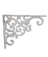 "Wall Shelf Bracket - Ornate Vine Pattern - White Cast Iron - 9.375"" Deep - $17.81"