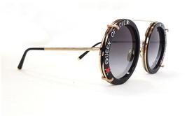 DOLCE & GABBANA Women's Sunglasses DG2198 02/8G Round Blk/Gold Metal ITA... - $199.95