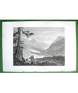 ITALY Airolo & Val Levantine Alps - SCARCE 1836 Antique Print ENgraving - $26.01