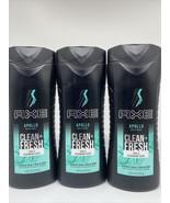 (3) AXE Apollo Body Wash For Men Sage & Cedarwood Scent Clean + Fresh 16oz - $15.19