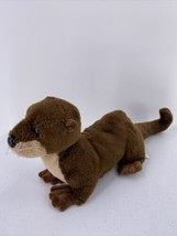 "Aurora Destination Nation Brown Otter Plush 18"" Stuffed Animal 2019 - $9.49"