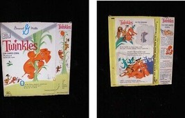 General Mills Twinkles Cereal Box 1960s Twinkles and The Beanstalk - $54.99