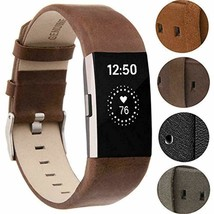 Compatible for Fitbit Charge 2 Bands, VOMA Genuine Leather Replacement Wristband - $25.47
