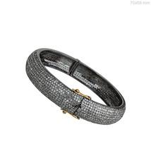 14 K Yellow Solid Gold 12.96 Ct Diamond Pave Fashion Bracelet Handmade J... - $1,947.97