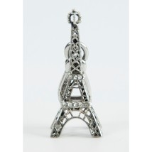 Juicy Couture Crystal Silver Tone Eiffel Tower FULL SIZE Bracelet Charm ... - $29.21