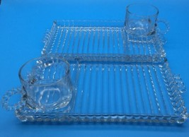 Hazel Atlas Glass Ball and Rib Design Orchard Snack Sip & Smoke Cups (#5... - $18.04