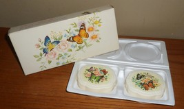 Vintage Avon BUTTERFLIES  2 Special Occasion Hostess SOAPS in Original BOX - $19.00