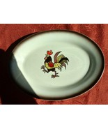 "Metlox Poppytrail Red Rooster Platter 11"" X 8"" and 1 serving bowl 10"" - $22.97"