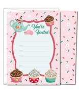 Gooji Cupcake Party Invites – Large 25pcs Double Sided Tea Party Invitat... - $10.15
