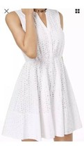 Maison Jules Dress Fit & Flare Eyelet Sz M - $17.33