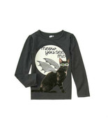 Crazy 8 Girls Tee Top Girl Sz S 5 6 Grey Graphic Winged Cat Cotton Long ... - $12.75