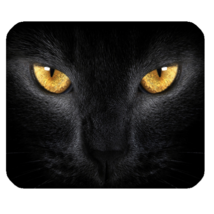 Mouse Pad Cat Black Cat Face With Yellow Eyes Beautiful Design In Elegan... - €8,00 EUR