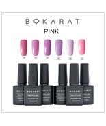 Bokarat Soak Off UV LED Pink Series Gel Nail Polish 6 x 7.3 ml Set Summe... - $21.99