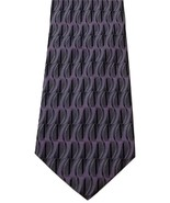 Gatsby Pure Silk Italian Gray Purple Handmade Geometric Print Men's Neck... - $19.79