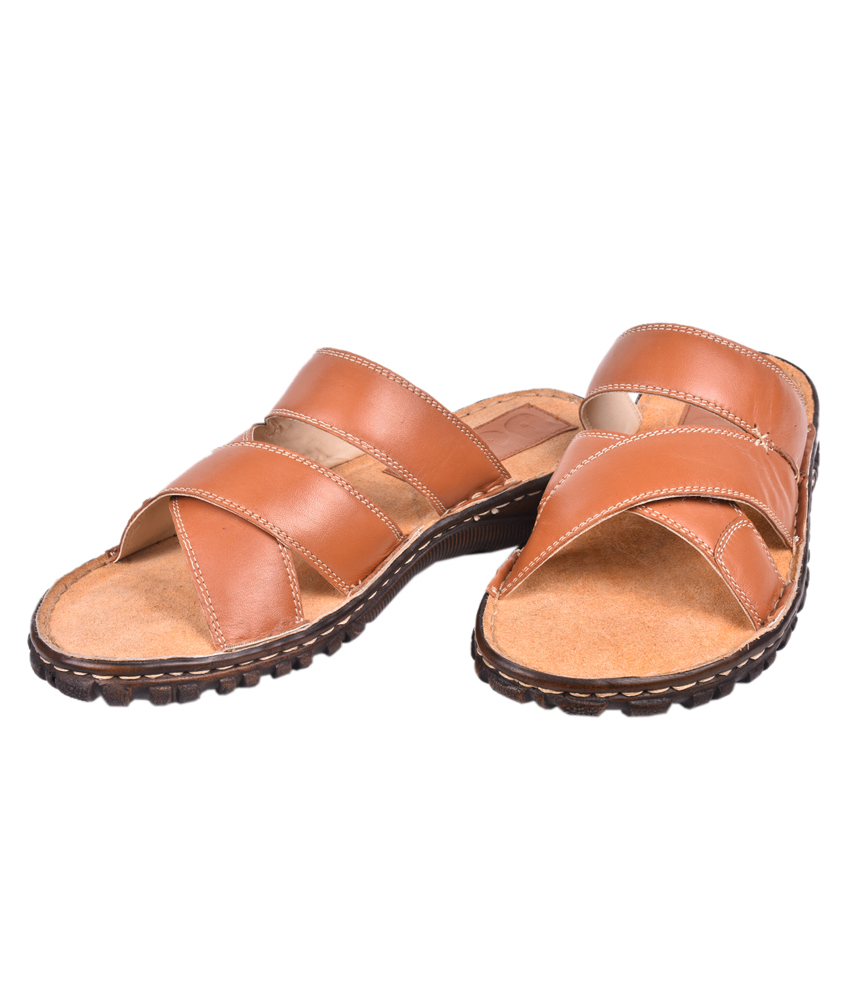 Papa Leather Slippers For Men