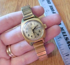 Vintage Waltham Automatic 17 jewels Watch gold tone 2658 CE352 - $108.11