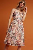 NWT $158 Anthropologie Maeve Mackenzie Dress Lace Empire Waist Floral 10... - $48.00