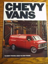 1977 Chevrolet Chevy Van Brochure Nomad Caravan Sportvan Cube 110 125 G1... - $7.11